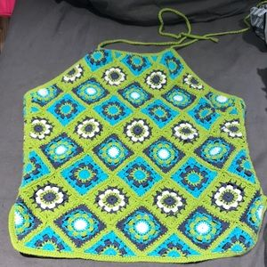 Vibrant crochet halter top